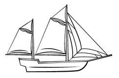 Ship Symbol Royalty Free Stock Photos