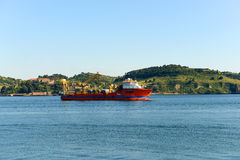 Ship on Tejo River Stock Images