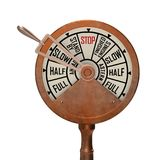 Ship telegraph slow ahead. 3d rendering on white Royalty Free Stock Photos