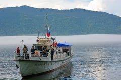 Ship at Teletskoye lake Stock Images
