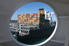 Ship thru a Port Hole Royalty Free Stock Photo