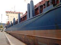 Ship tied to a dock Royalty Free Stock Photos