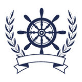 Ship timon maritime frame Stock Image