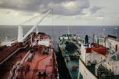 Ship To Ship Operation royalty free stock photography