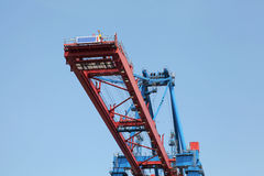Ship-to-shore crane Stock Photo