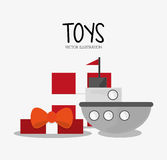 Ship toy and game design Stock Images
