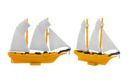 Ship toy. Royalty Free Stock Photo