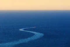 Ship trace on sea. Ship trace on the sea Royalty Free Stock Photo