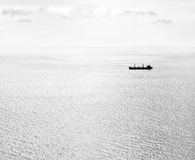 Ship. Transport ship carries cargo by sea Royalty Free Stock Image