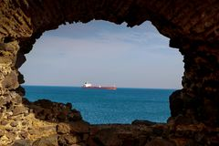 Ship transport and ocean Royalty Free Stock Photography