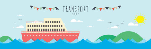 Ship (Transportation). Vector file useful, which about transportation royalty free illustration