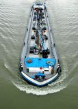 River tanker ship transporting oil. Ship transporting oil on the Danube river in Serbia,photo from above stock photos