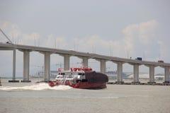 Ship travelling to Hong Kong Royalty Free Stock Image