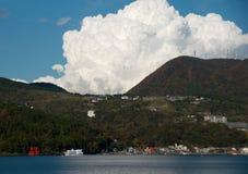 Ship trip in ashi lake, Japan Stock Image