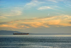 Ship in twilight Stock Photography