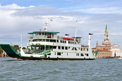 Ship type ferry  to transport vehicles Stock Photo
