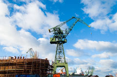 Ship under construction Royalty Free Stock Photography