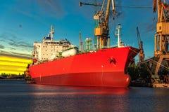 Ship under loading stock photography