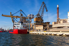 Ship under loading Royalty Free Stock Images