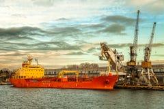 Ship under loading Stock Photo