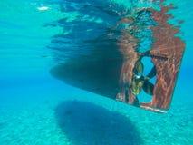 Ship Underwater Royalty Free Stock Photos