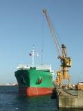 Ship unloading Stock Image