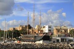 Ship in Valletta in Malta Royalty Free Stock Photos