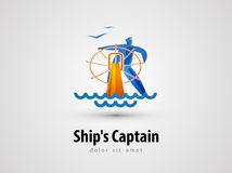 Ship vector logo design template. sailor or cruise Stock Photo