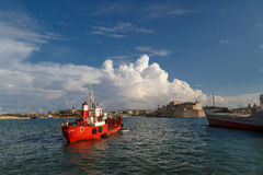 Ship View on Malta Coast Royalty Free Stock Photos