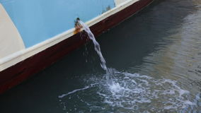 Ship Water Discharge stock video footage