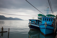 Ship on water from koh chang Stock Photography
