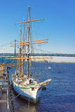 Ship at the waterfront of Delaware River of Philadelphia Stock Image