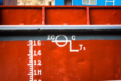 Ship Waterline Ruler Royalty Free Stock Images