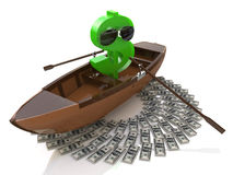 Ship of wealth Royalty Free Stock Photography