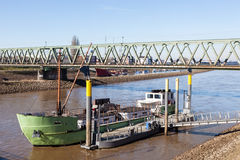 Ship on the Weser river in Bremen Royalty Free Stock Image