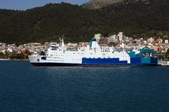 Ship at wharf of Igoumenitsa. Royalty Free Stock Photo