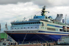 Ship at the wharf Stock Photo