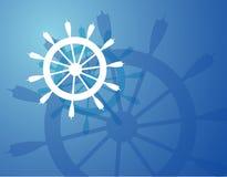 Ship Wheel. Background Royalty Free Illustration