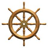Ship wheel. Rendered ships wheel Royalty Free Stock Images