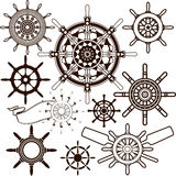 Ship Wheel Collection Stock Image