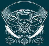 Ship Wheel Crest Royalty Free Stock Images