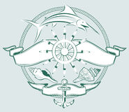 Ship Wheel Crest Stock Photography
