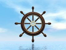 Ship wheel - 3D render Royalty Free Stock Photography