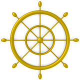 Ship Wheel isolated on white Royalty Free Stock Images