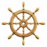 Ship wheel isolated on white background 3d rendering. Isolated illustration on white background Stock Image