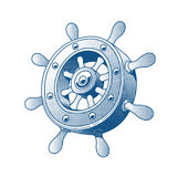 Ship wheel marine tattoo Royalty Free Stock Image
