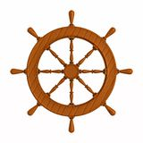Ship wheel on white background. Isolated 3D illustration Stock Images