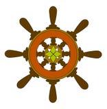 Ship whell. Illustration of ship wheel stock illustration