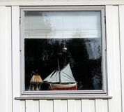 Ship in Window Royalty Free Stock Image