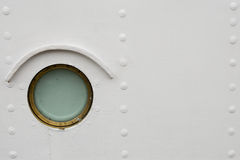 Ship window. And rivets on white background royalty free stock photos